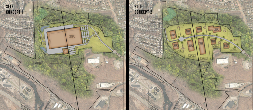 Concepts for Naugatuck Industrial Park, a designated Opportunity Zone in Waterbury