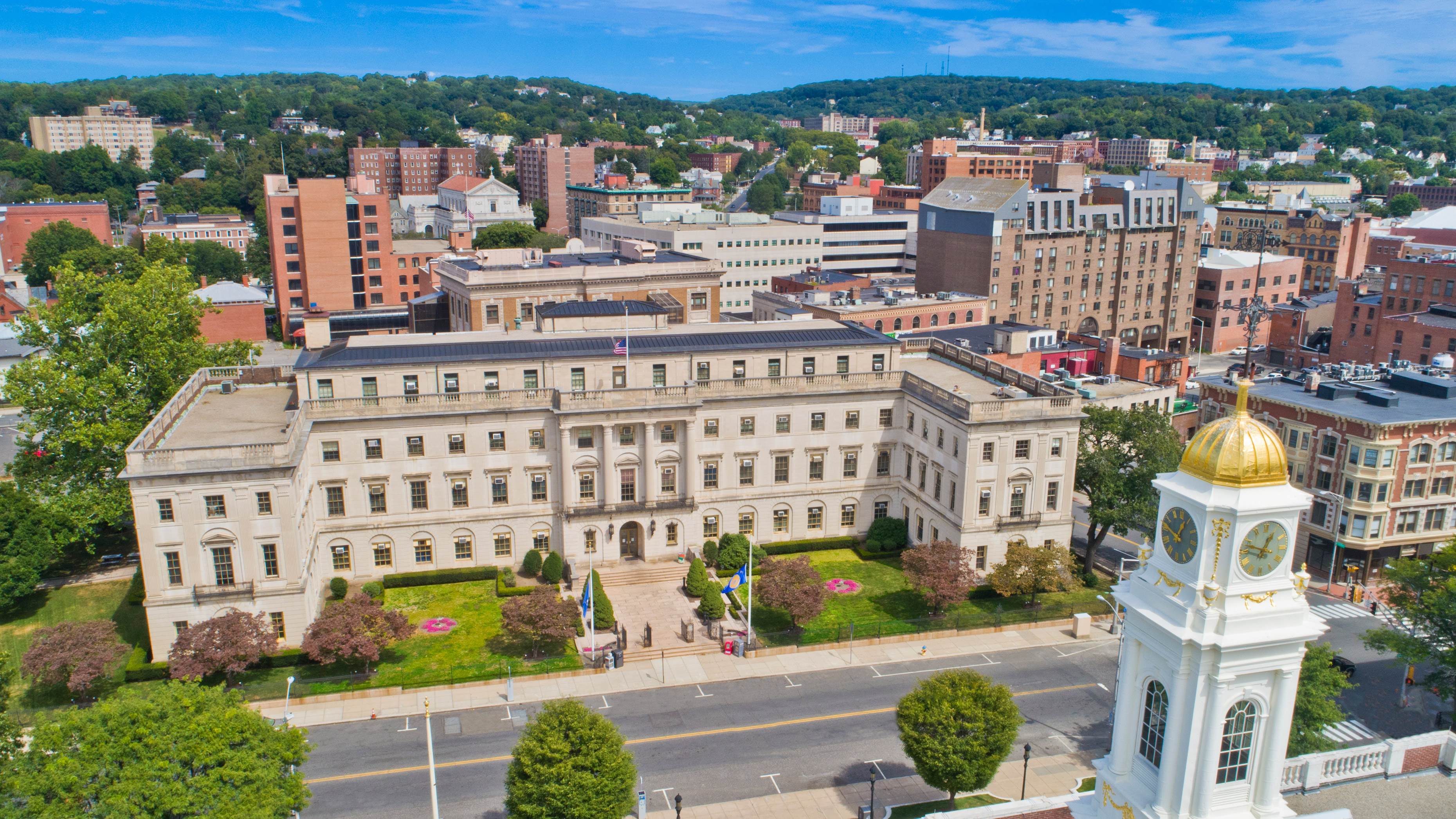 City Hall area of downtown Waterbury CT