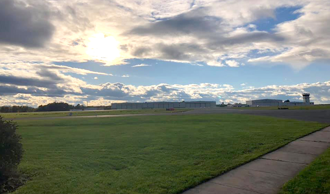 Grounds of the Waterbury-Oxford Airport