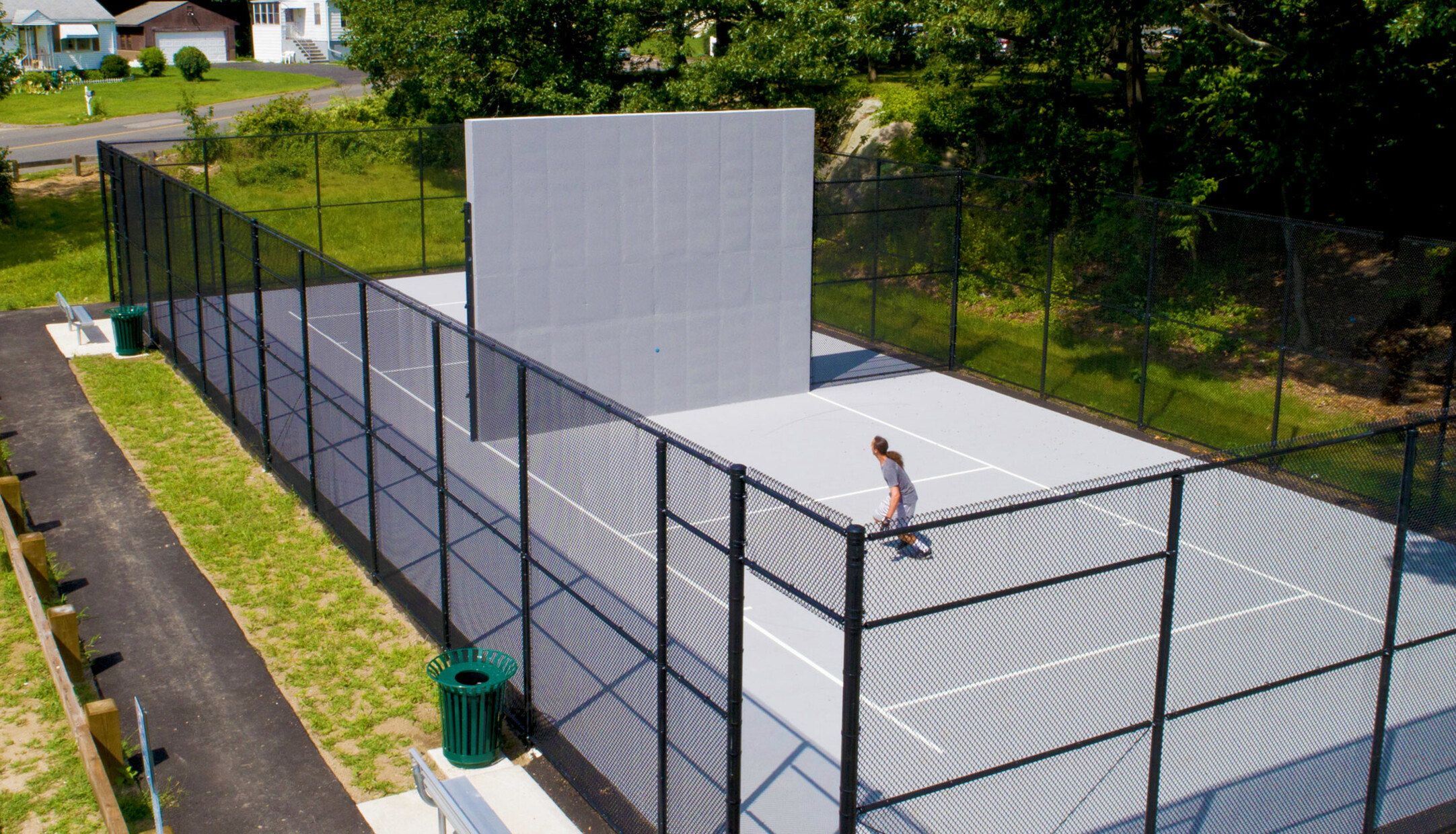 A handball court in the Lakewood neighborhood of Waterbury